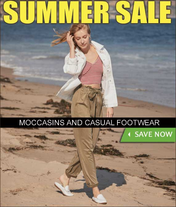 SPRING SALE - WOMENS MOCCASINS AND CASUAL FOOTWEAR