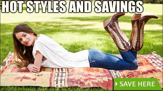 SAVE ON COWGIRL BOOTS AND SHOES