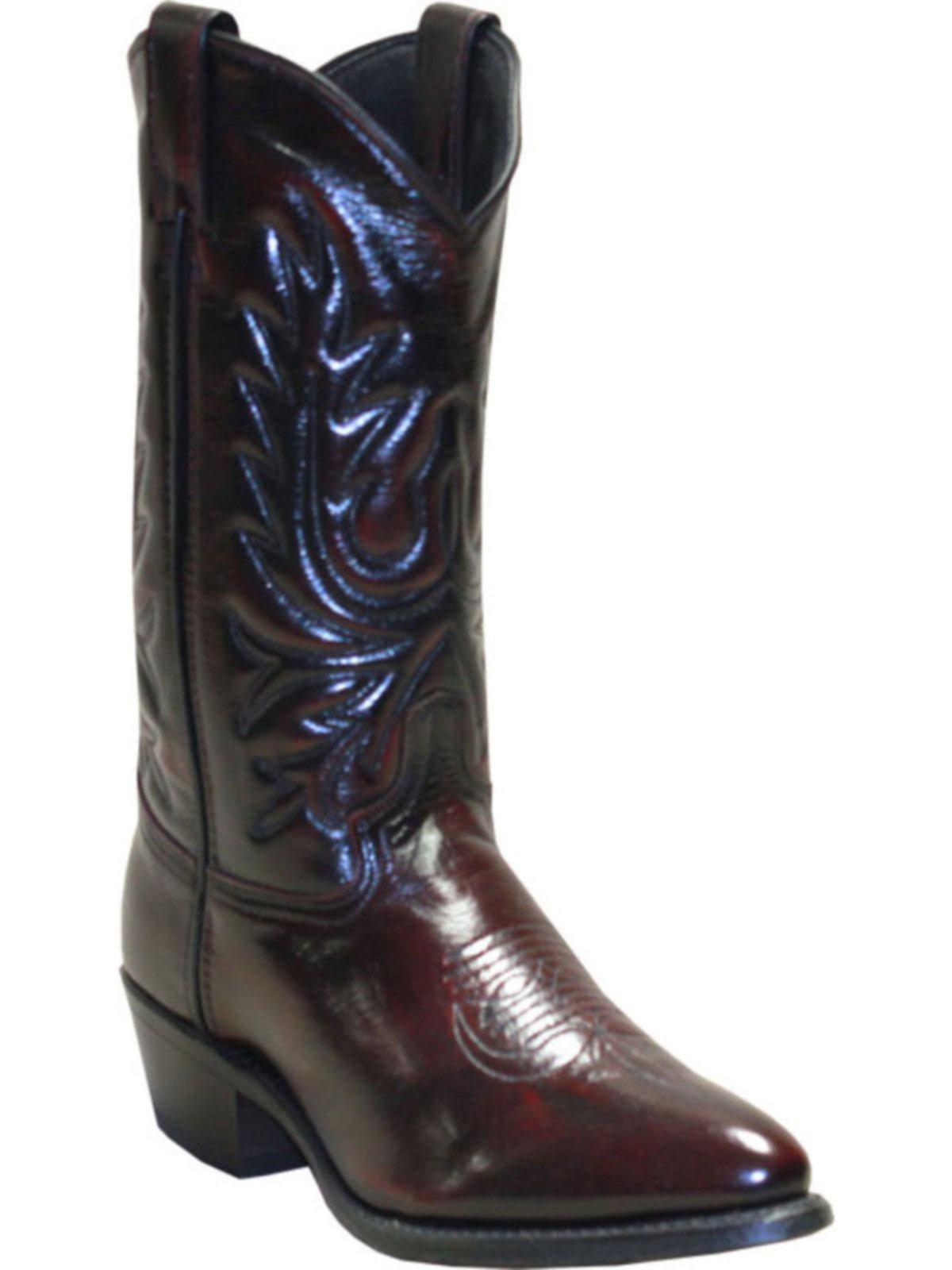 Bootamerica Abilene Mens 12 Quot Black Cherry Cowboy Boots 6461