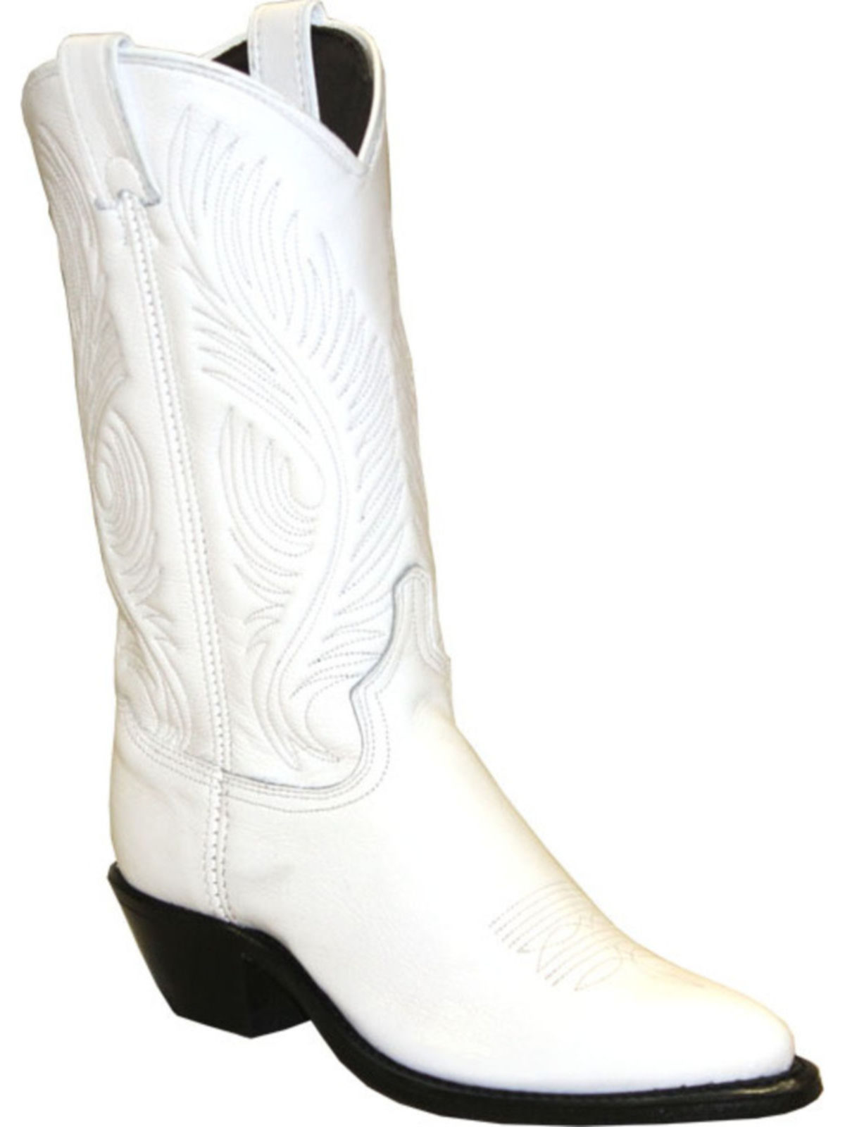Bootamerica Abilene Womens White Cowhide Cowgirl Boots 9054