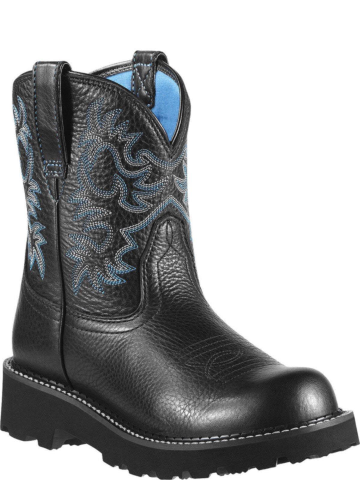 bootamerica ariat womens fatbaby black deertan boot 10000833