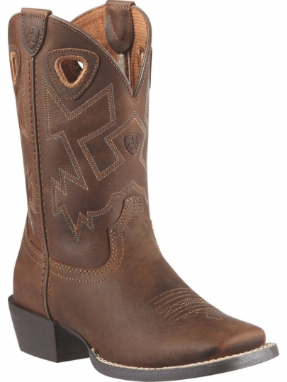 090c634598a Ariat Youth Western Charger Distressed Brown Cowboy Boot 10010910