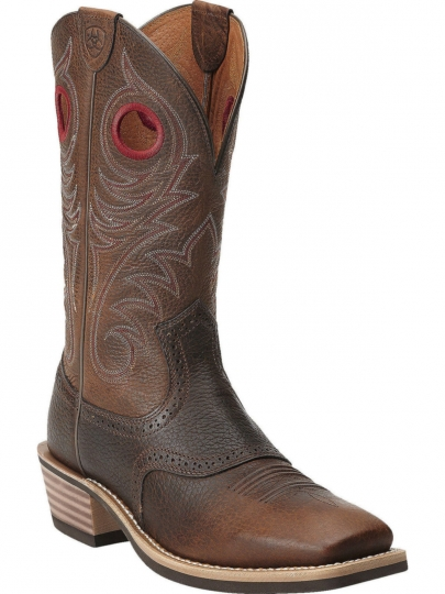 b863cc7a20a Ariat Mens Performance Heritage Roughstock Wide Square Toe Earth Cowboy  Boot 10012788