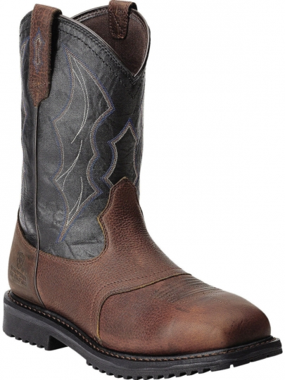 9bf64cd8440 Ariat Mens Western Work RigTek™ Wide Square Toe H2O Oiled Brown Boot  10012932
