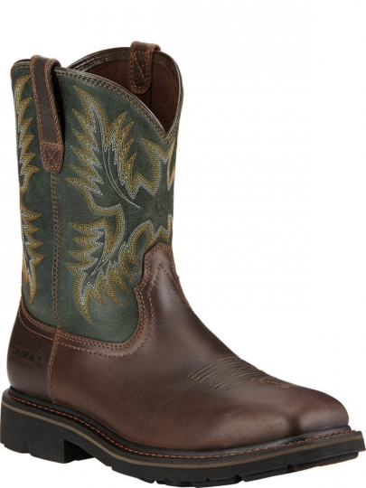 71abd5ee1b4 Ariat Mens Western Work Sierra Wide Square Toe Dark Brown Boot 10017434
