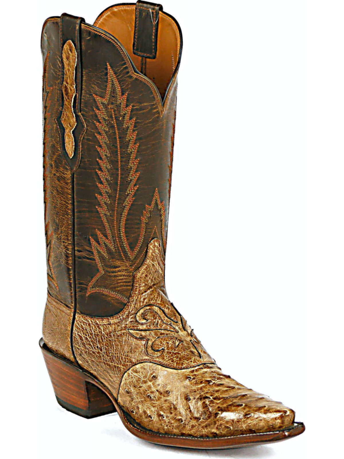Bootamerica Black Jack Boots Feather Stitch Full Quill