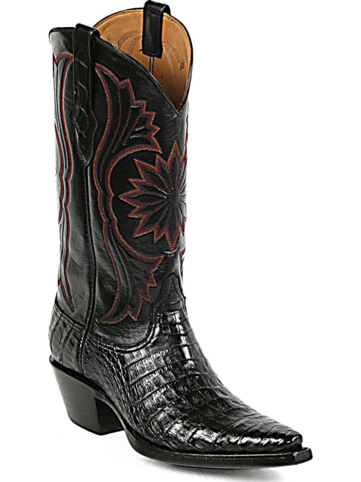 Bootamerica Black Jack Boots Stitch M 344 Caiman Belly