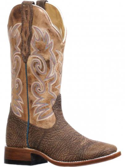 b871b1fbfbf Boulet Mens Apache Moka Full Round Toe Cowboy Boots 8311