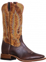 8d282b1f0e9 BootAmerica : Boulet Mens Apache Moka Full Round Toe Cowboy Boots 8311