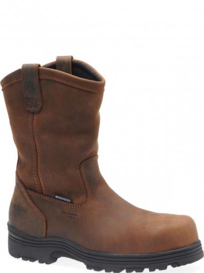 0db0cf8f6a2 Carolina Mens Waterproof Composite Toe Wellington Dark Brown CA2533