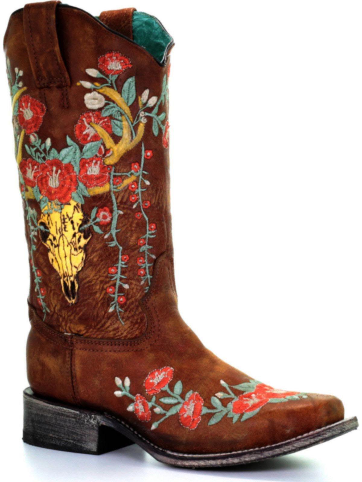 corral women's deer skull boots