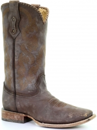 Corral Men/'s Cowhide J Toe Cowboy Western Boots Vintage Tan Leather C3069