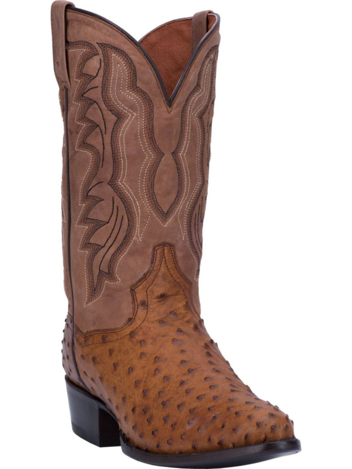 Bootamerica Dan Post Mens Tempe Full Quill Ostrich Dp2323