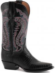 Ferrini Ladies Teju Lizard Black Boots 81161-04