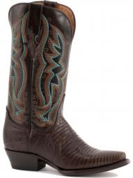 Ferrini Ladies Teju Lizard Chocolate Boots 81161-09