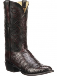 6f362791610 Lucchese Mens Jones Black Cherry Belly Caiman Western Boot GY1029-63