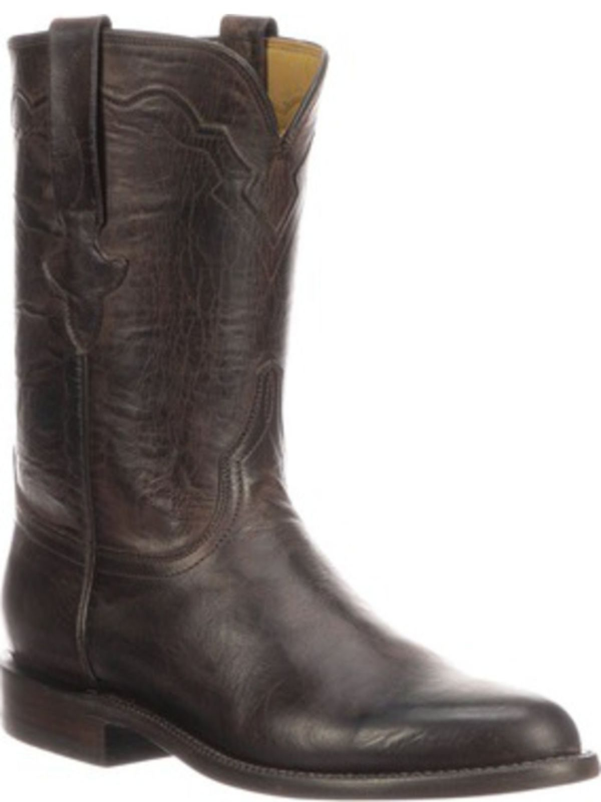 Bootamerica Lucchese Mens Tanner Chocolate Goat Roper