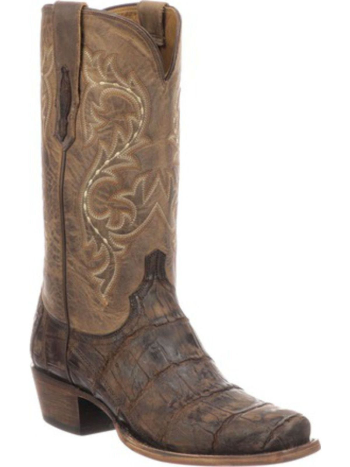 Bootamerica Lucchese Mens Burke Chocolate Alligator