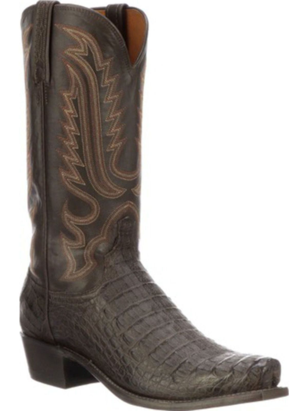 Bootamerica Lucchese Mens Walter Brl Brown Burnished