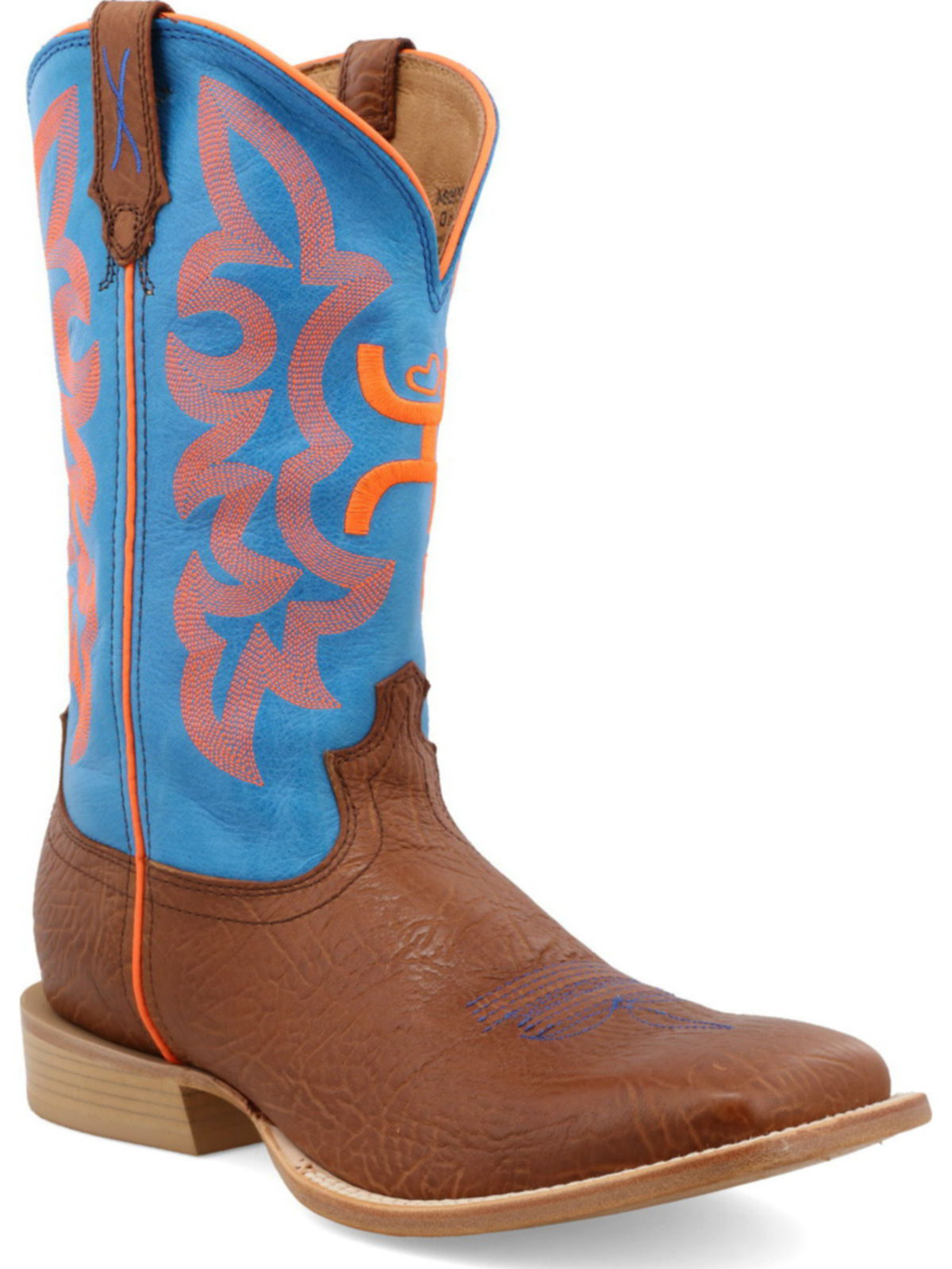 Twisted X Mens Hooey Boot Bull Hide//Neon Blue