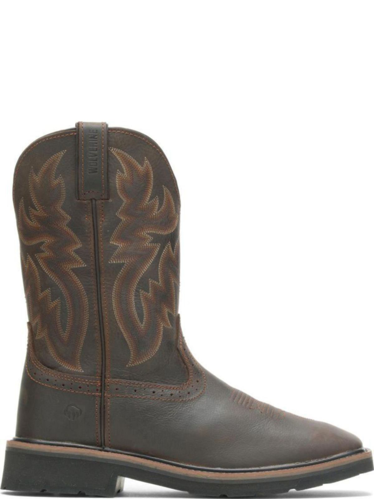 ac2c7d76c94 Wolverine Mens Rancher Square-Toe Wellington W10704